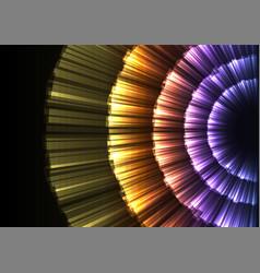 Glow abstract flower layer in dark background vector