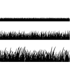 grass meadow border pattern spring or vector image