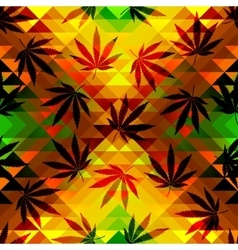 Hemp leaves vector image