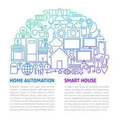 home automation line template vector image