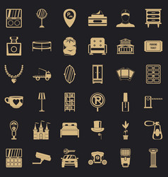 home comfort icons set simple style vector image