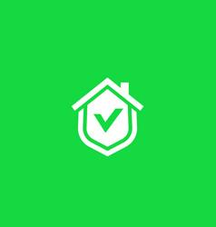 home security logo icon vector image