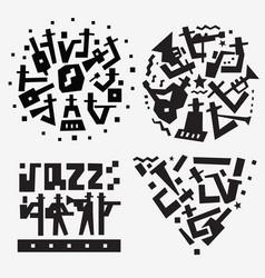 jazz band logo musicians symbol vector image