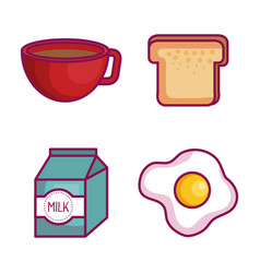 Kawaii breakfast design vector