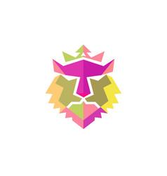Lion head color vector