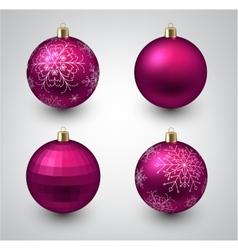 Magenta christmas balls vector