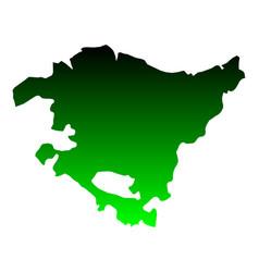 Map basque country vector