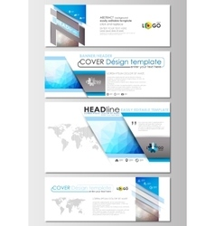 Modern social media banners email headers vector