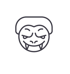 monster emoji concept line editable vector image