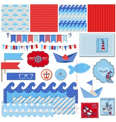 Nautical Sea Theme vector