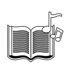 open book and note music vector image