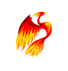 phoenix bird fairy firebird vector image