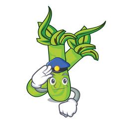 Police wasabi character cartoon style vector