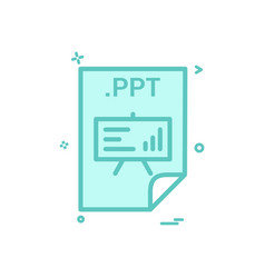 ppt application download file files format icon vector image