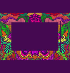 psychedelic abstract frame with place for text vector image