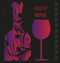 Red wine tasting card vector