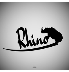 Rhino Calligraphic elements vector