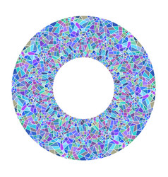round frame made of stained glass broken glass vector image