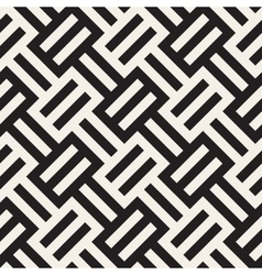 Seamless Black And White Geometric Stripes vector image