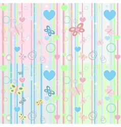 Set baby butterfly card vector image
