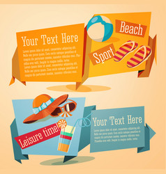 set jolly summer banners vector image