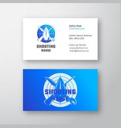 Shooting range abstract logo and business vector