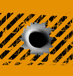 Single bullet holes vector