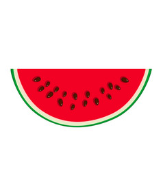 slice of watermelon isolated vector image
