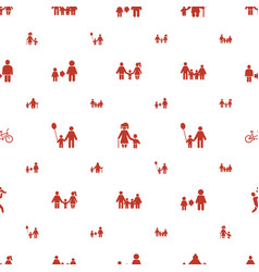 Son icons pattern seamless white background vector