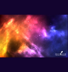 space background realistic color cosmos with vector image
