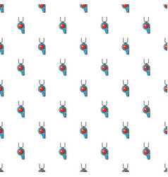 Sport whistle pattern seamless vector