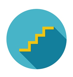 stair icon long shadow vector image