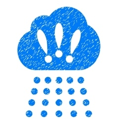 Storm cloud grainy texture icon vector