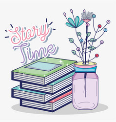 story time cartoon vector image