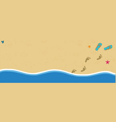 summer banner with copy space flip flops and foot vector image