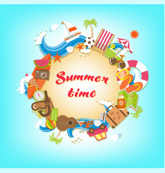 summer time elements banner vector image