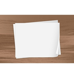 Two empty papers vector
