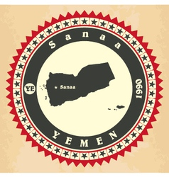 Vintage label-sticker cards of Yemen vector image
