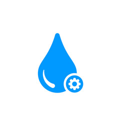 Water icon with settings sign vector