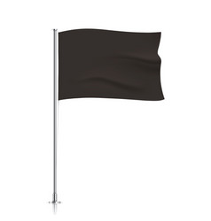 Waving black flag template vector image