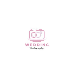 Wedding married camera ring photography event vector