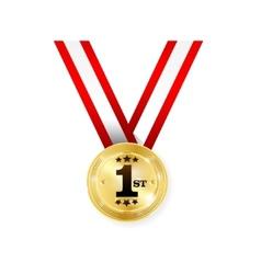 Winner medal vector
