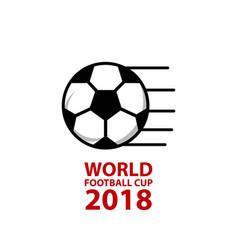 World football cup 2018 template design vector