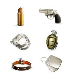 Arms icon set vector image