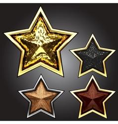 award star set vector image vector image