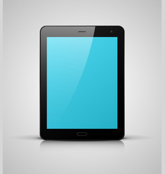 black tablet pc with blue screen vector image