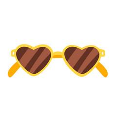 heart shaped sunglasses vector image