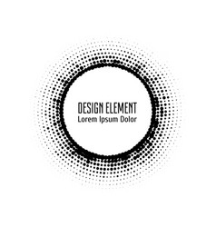 pop art halftone logo circle vector image