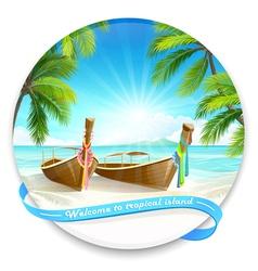 Tropical island vector image vector image