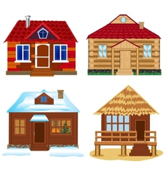 Four buildings vector image